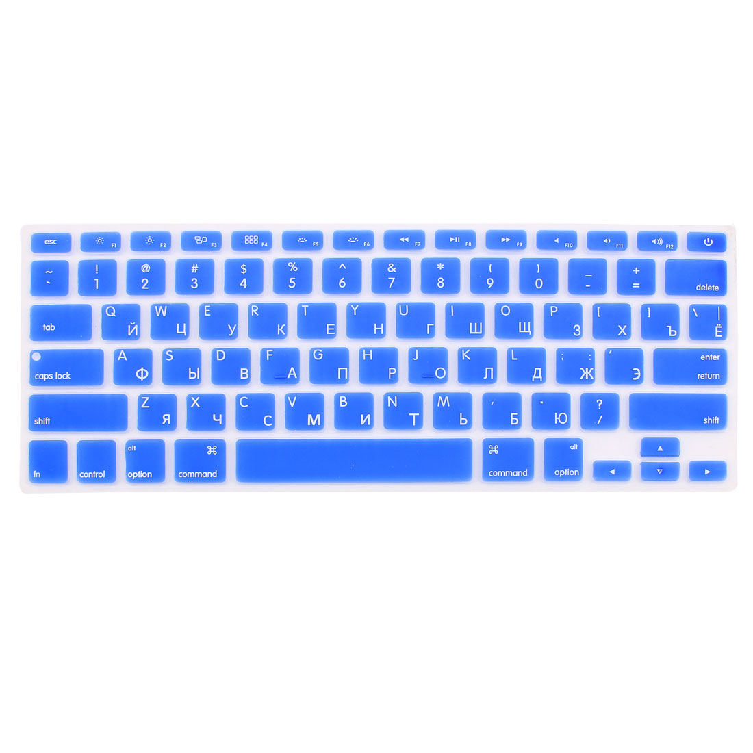 "Russian Silicone Keyboard Skin Cover Dark Blue for Apple Macbook Air 13""15""17"" US"