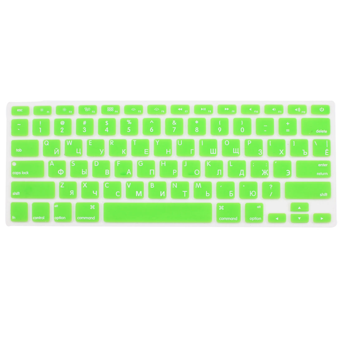"Russian Silicone Keyboard Skin Cover Green for Apple Macbook Air 13""15""17"" US"