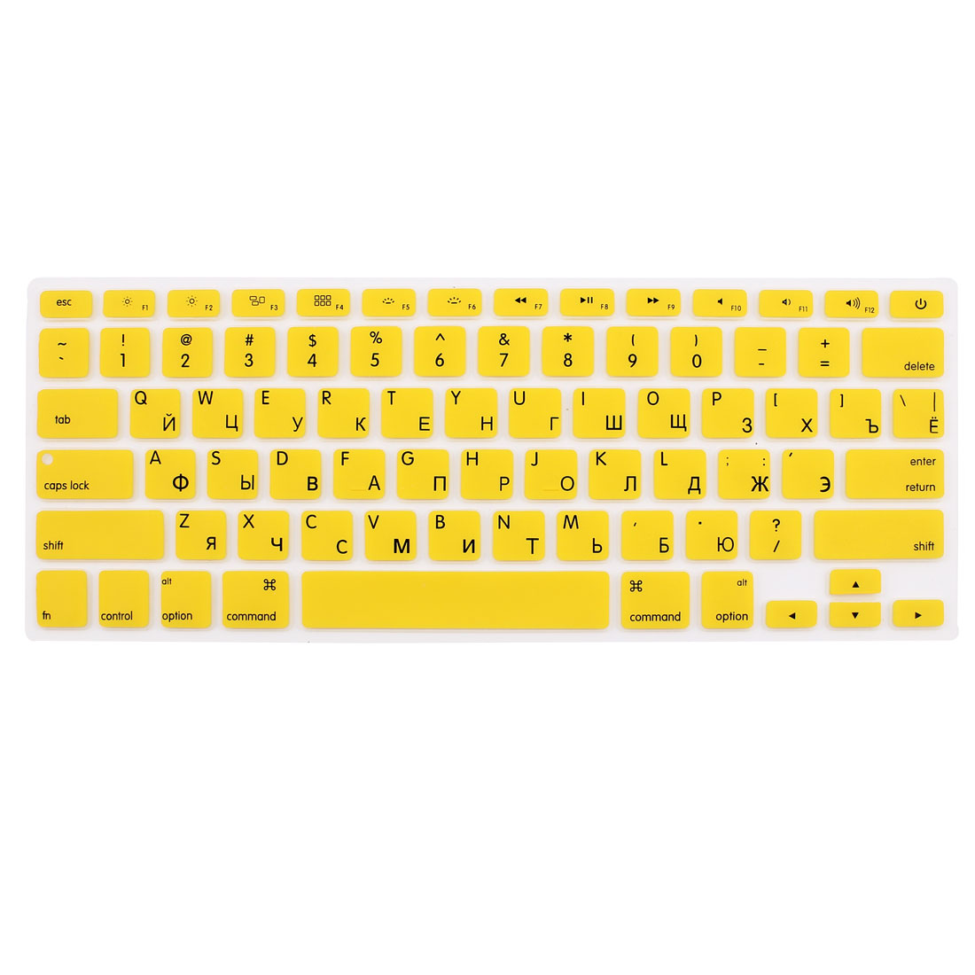 "Russian Silicone Keyboard Skin Cover Yellow for Apple Macbook Air 13""15""17"" US"