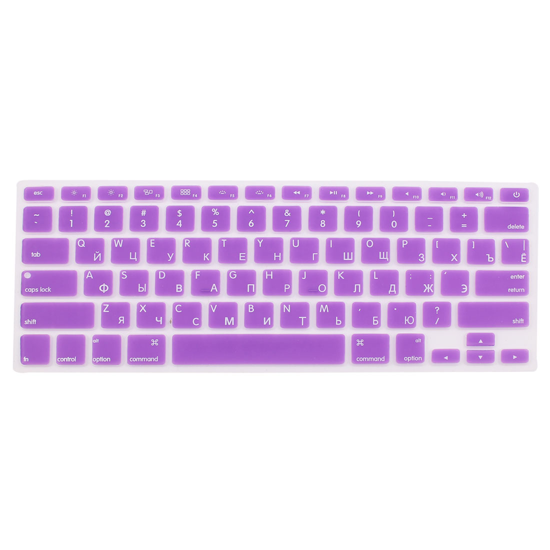 "Russian Silicone Keyboard Skin Cover Purple for Apple Macbook Air 13""15""17"" US"
