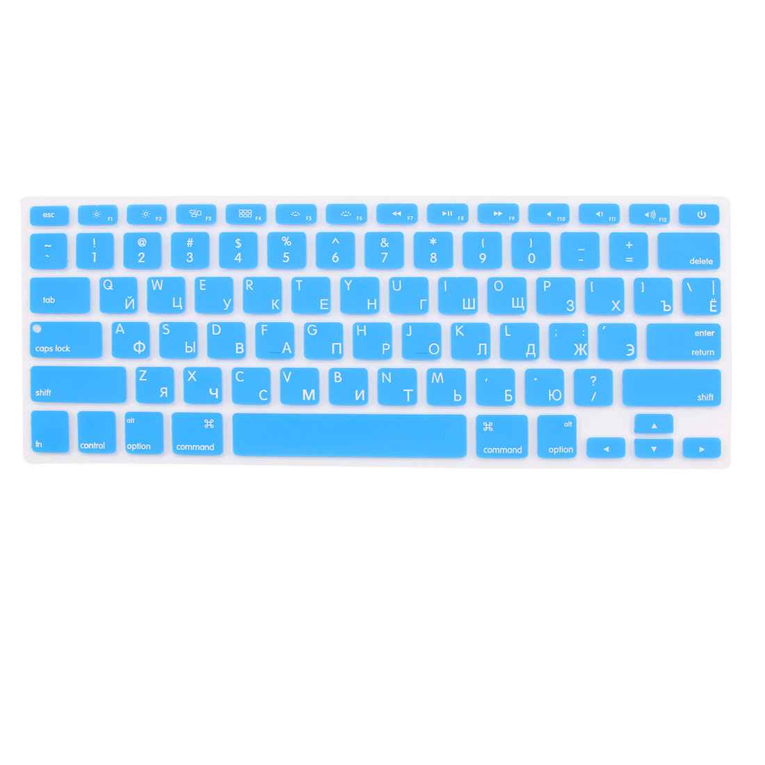 """Russian Silicone Keyboard Skin Cover Blue for Apple Macbook Air 13""""15""""17"""" US"""