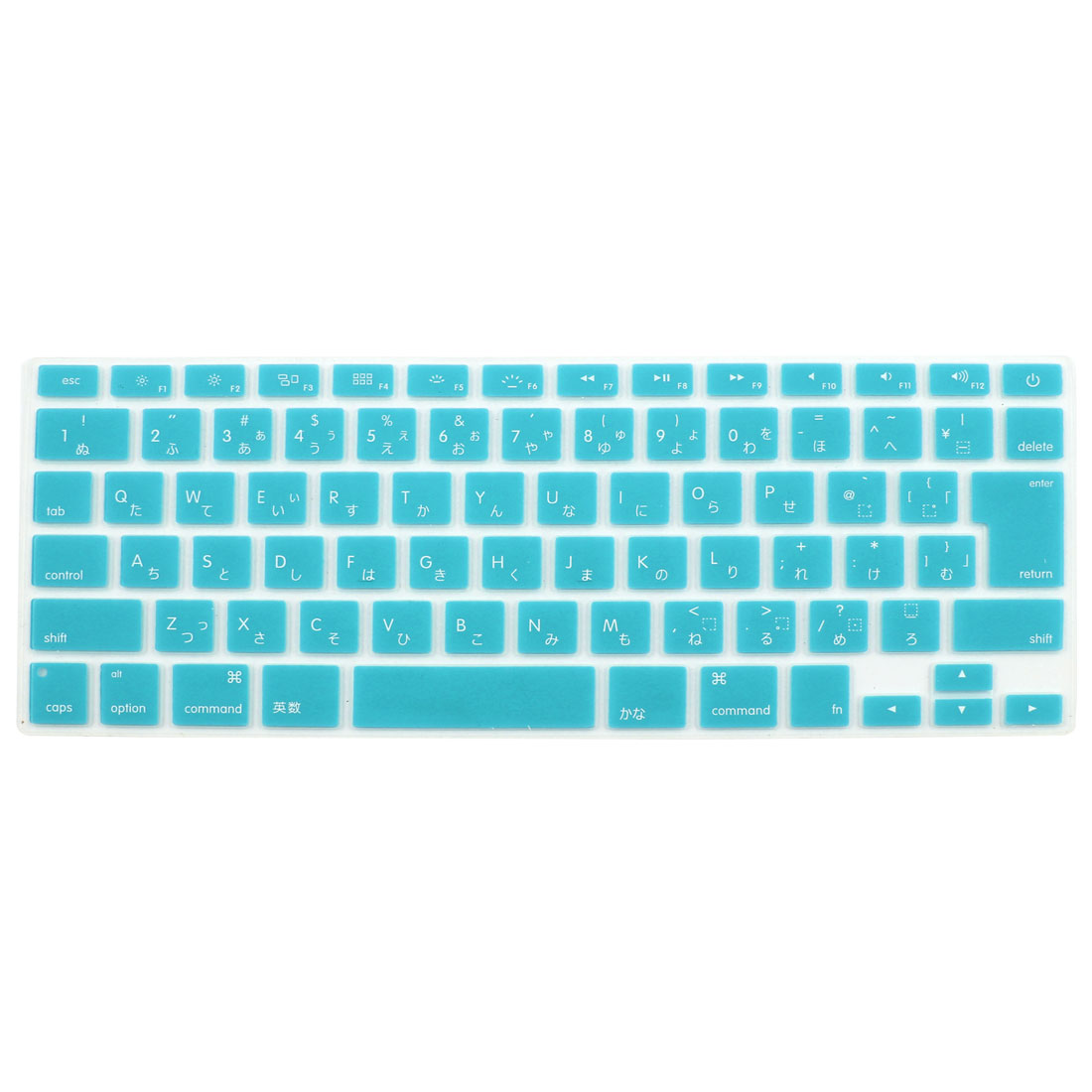 "Japanese Silicone Keyboard Skin Cover Light Blue for Apple Macbook Air 13""15""17"""