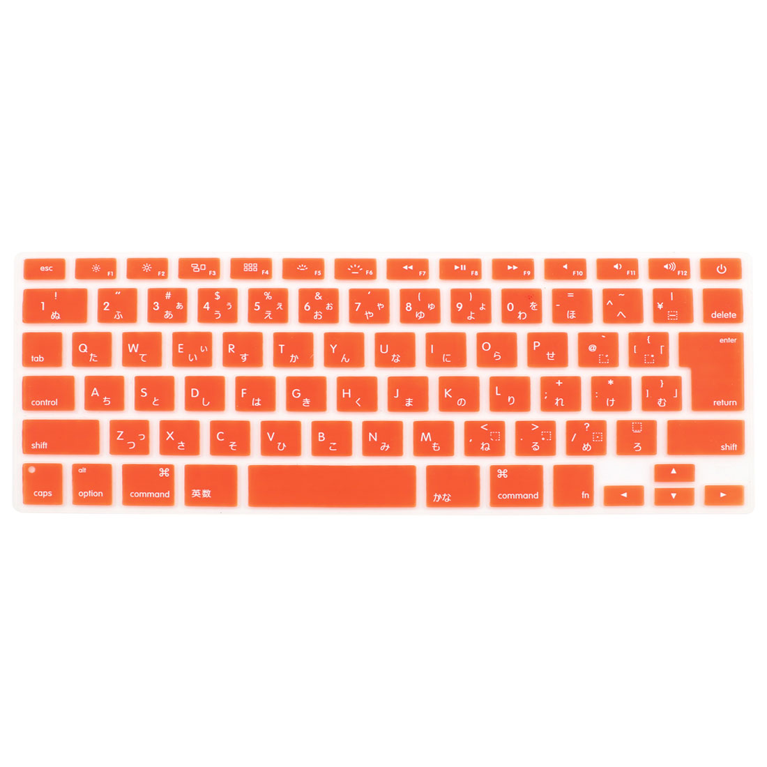 "Japanese Silicone Keyboard Skin Cover Orange for Apple Macbook Air 13""15""17"""