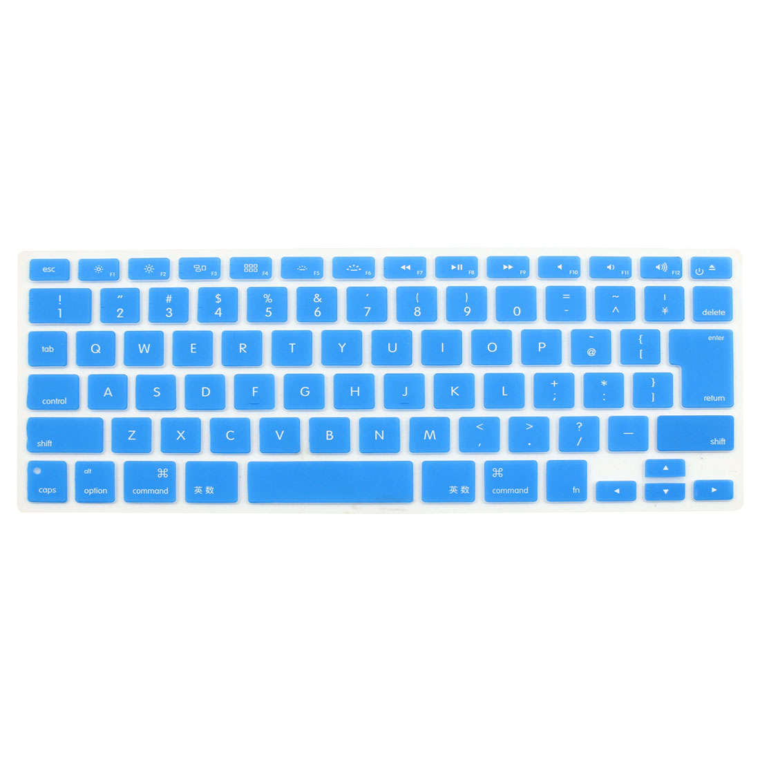 "Japanese Silicone Keyboard Skin Cover Blue for Apple Macbook Air 13""15""17"""