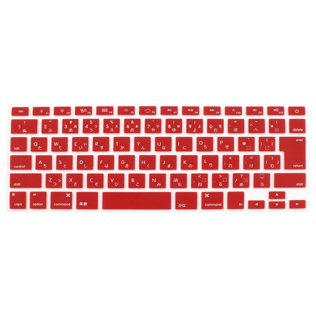 "Japanese Silicone Keyboard Skin Cover Dark Red for Apple Macbook Air 13""15""17"""