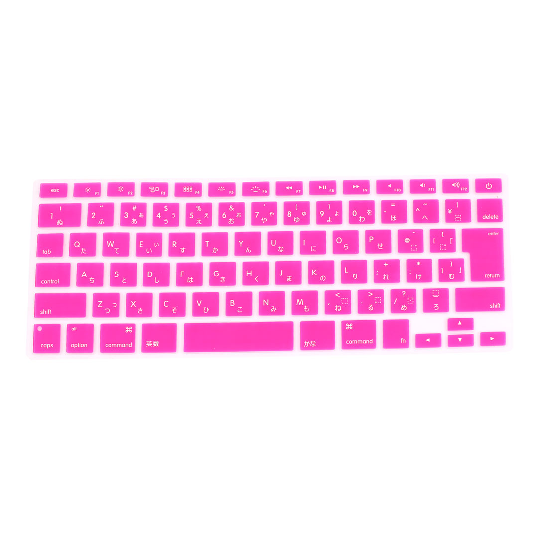 "Japanese Silicone Keyboard Skin Cover Fuchsia for Apple Macbook Air 13""15""17"""
