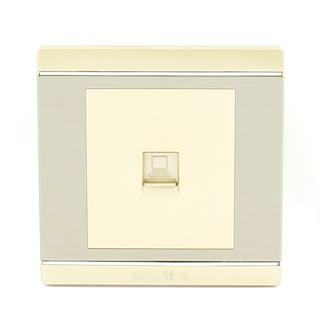 Computer RJ45 8P8C Single Gauge Wall Mount Plate Panel 86 x 86mm