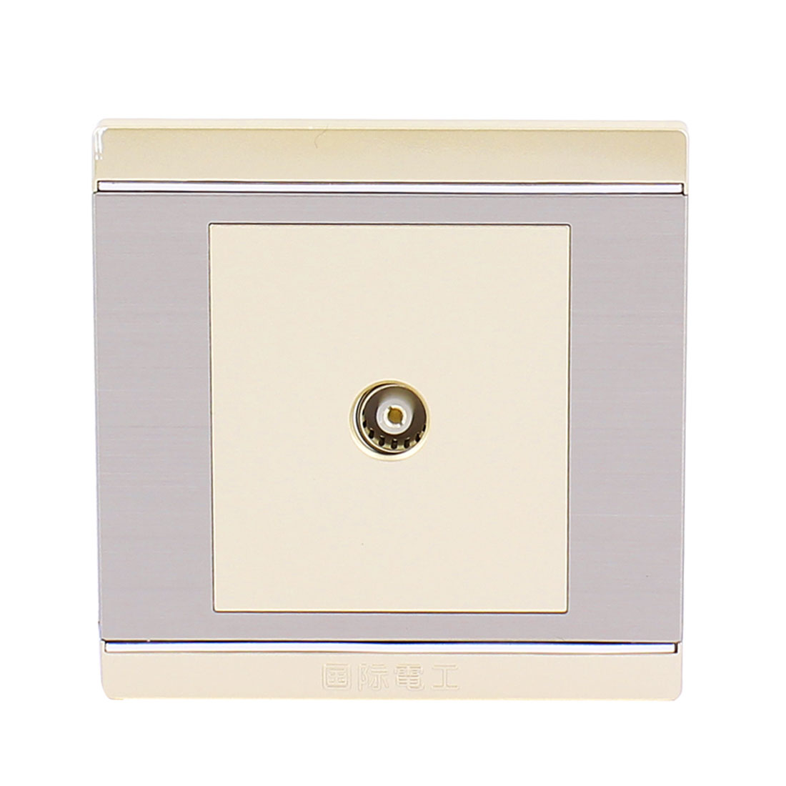 TV Port Socket Mounting Coaxial Outlet Wall Plate 85mm x 85mm AC 250V 10A