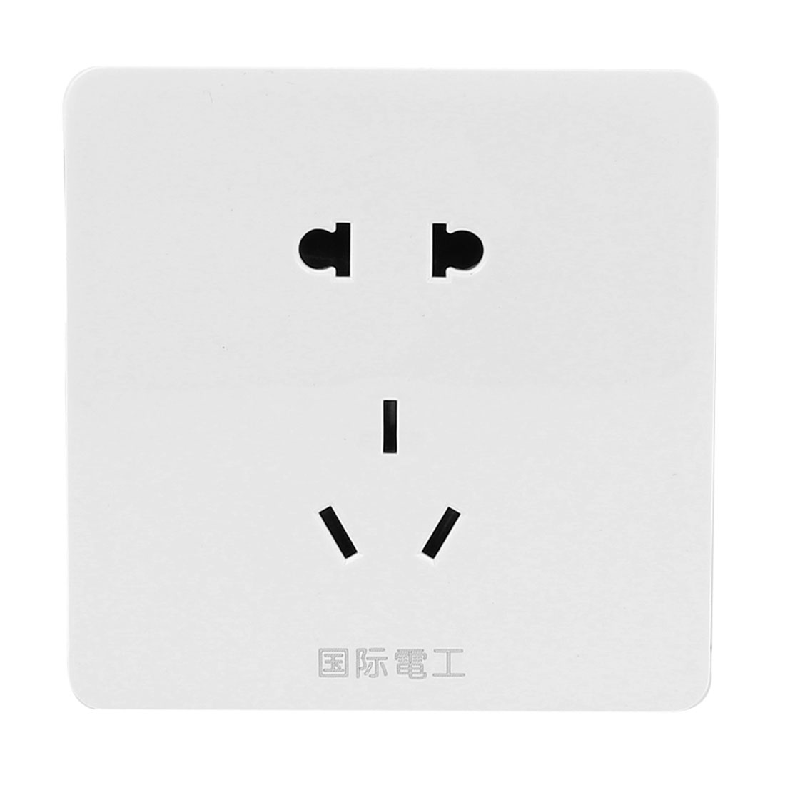 AU EU US Outlet Wall Panel 85mm x 85mm White AC 250V 10A