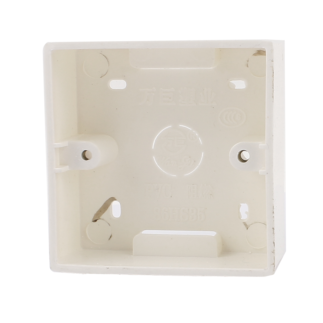 86mm x 86mm x 35mm Square Design PVC Switch Pattress Back Box