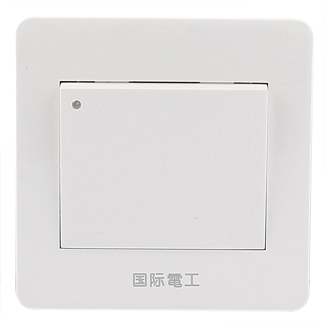 White On/Off Press Button Single Gang Wall Mount Switch Plate AC 250V 10A