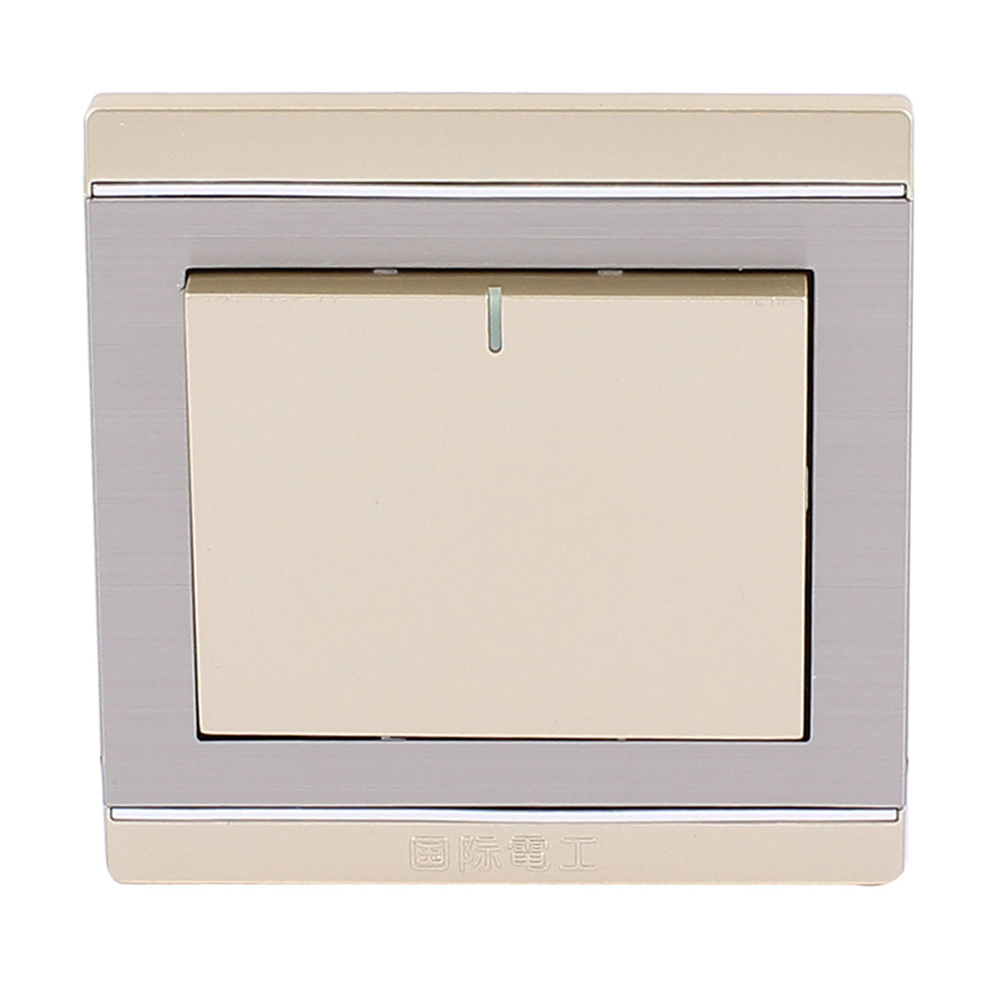 On/Off Press Button Type 1 Gang Wall Mount Switch Plate AC 250V 10A