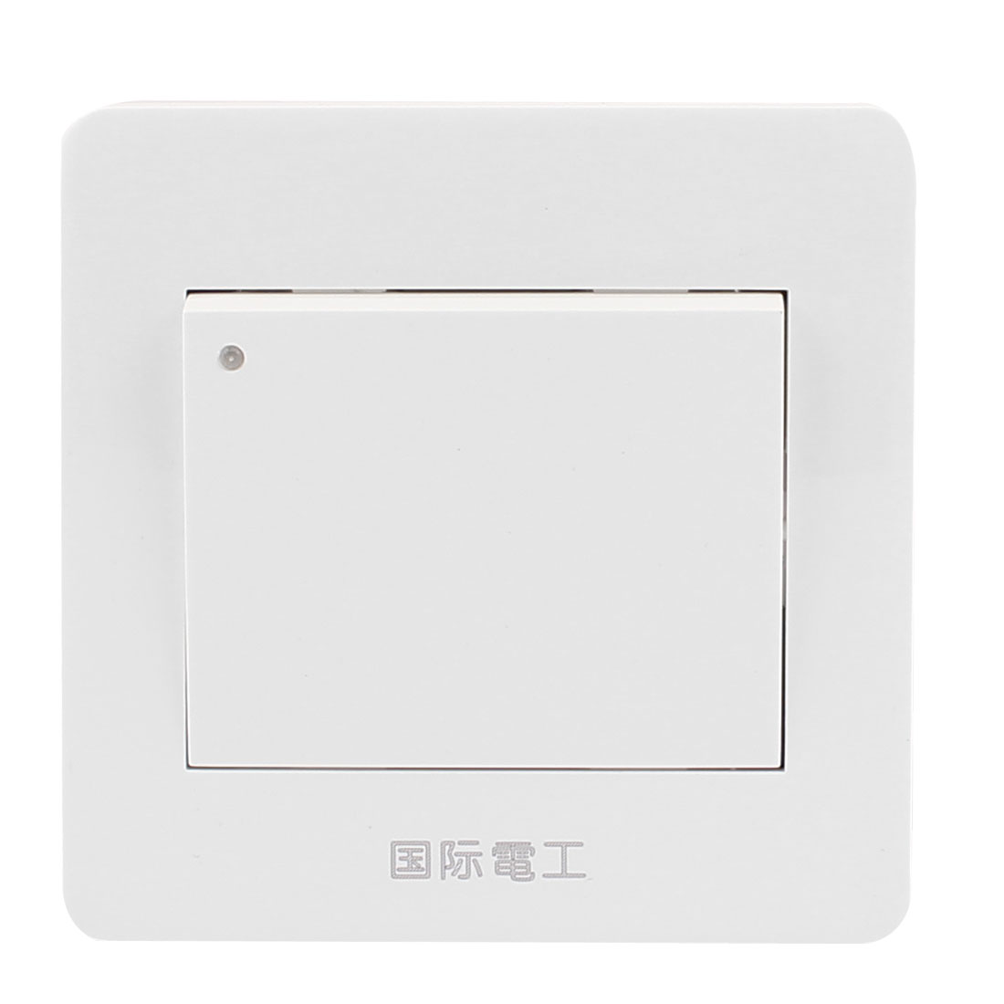 White On/Off Press Button Type 1 Gang Wall Mount Switch Plate AC 250V 10A
