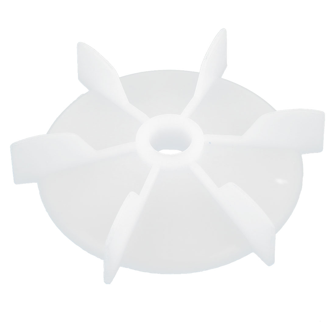 14mm D Shape Inner Hole Dia White Plastic 6 Impeller Motor Cooling Fan Vane Wheel