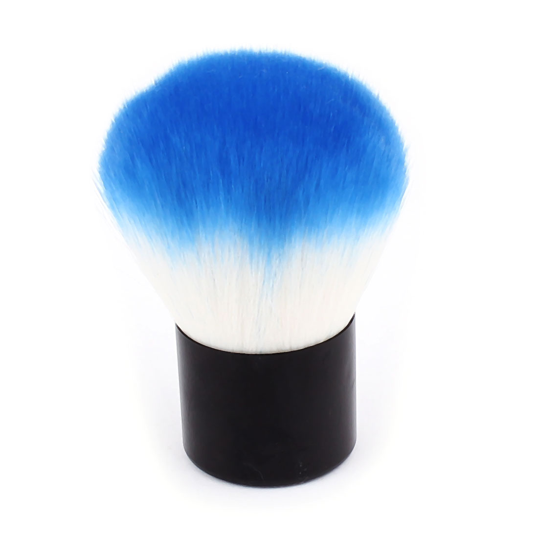 Woman Plastic Handle Synthetic Bristle Powder Blush Blusher Brush Facial Cosmetic Beauty Tool Blue