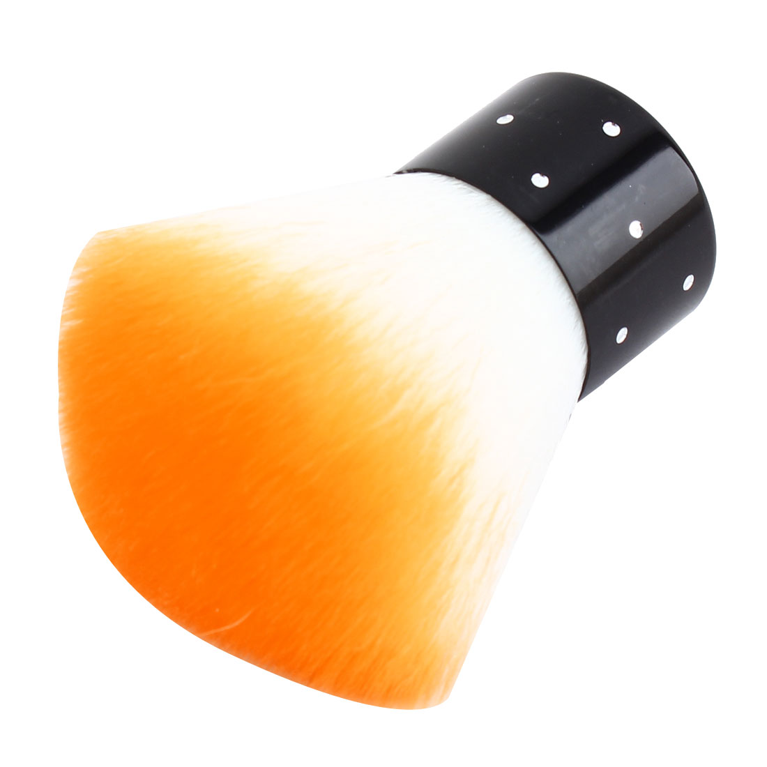 Lady Plastic Handle Synthetic Bristle Powder Blush Blusher Brush Facial Cosmetic Beauty Tool Orange