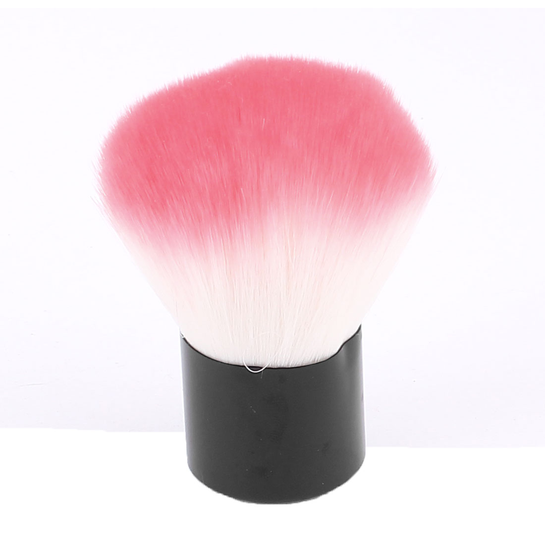 Woman Plastic Grip Synthetic Bristle Powder Blush Blusher Brush Facial Cosmetic Beauty Tool Pink