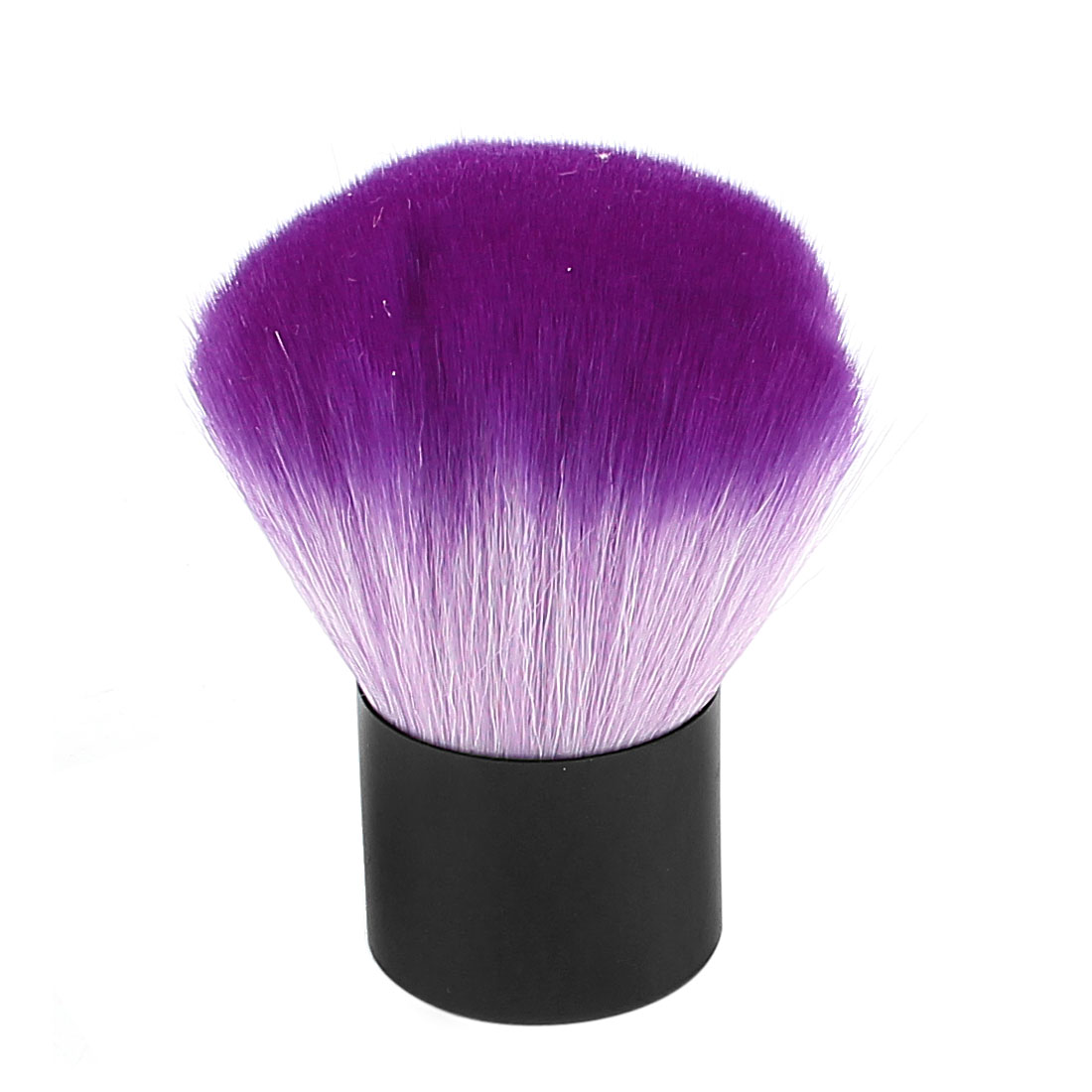 Woman Plastic Handle Synthetic Bristle Powder Blush Blusher Brush Facial Cosmetic Makeup Tool Purple
