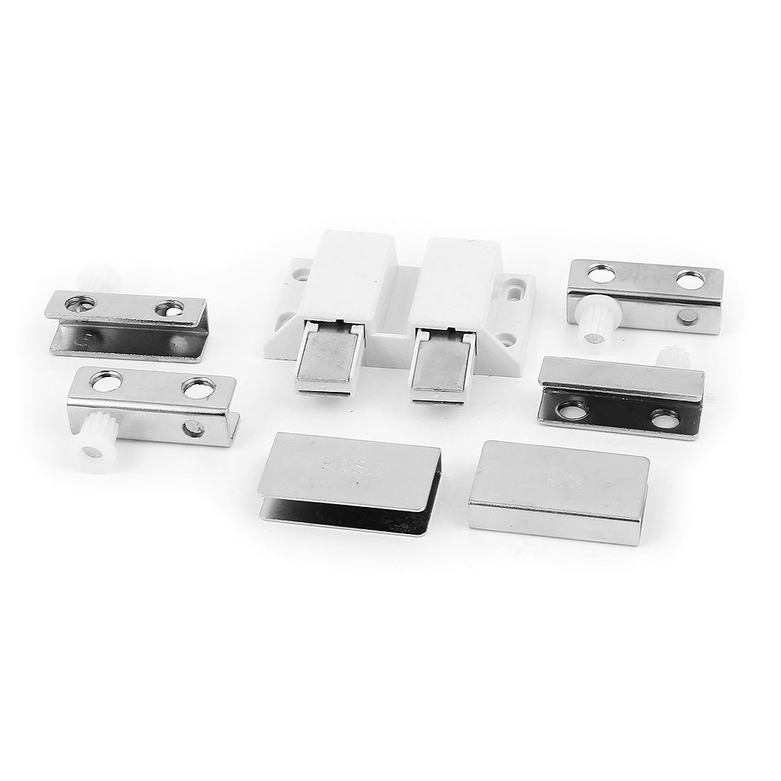 Metal Clamp Clip Glass Door Cabinet Push to Open Double Head Magnetic Catch Latch Stop Stopper