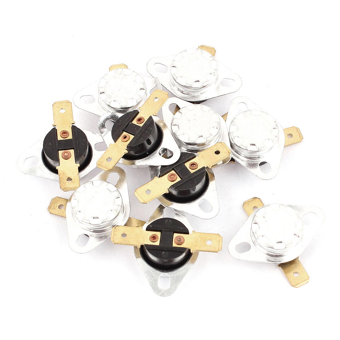10pcs KSD301 AC 250V 10A 90C Normal Open Temperature Control Controller Switch Thermostat
