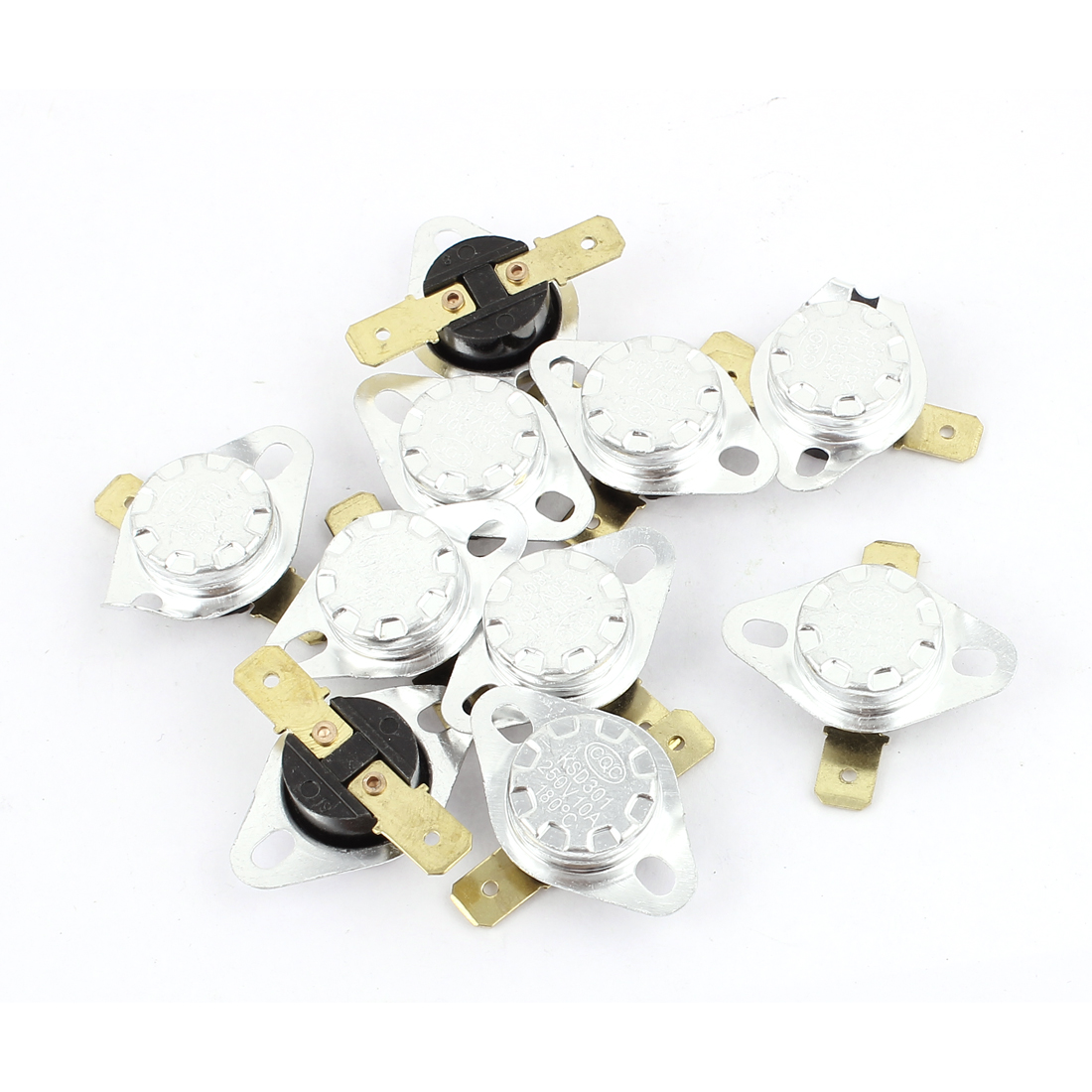 10pcs KSD301 AC 250V 10A 180 Celsius NO Temperature Controller Switch Thermostat