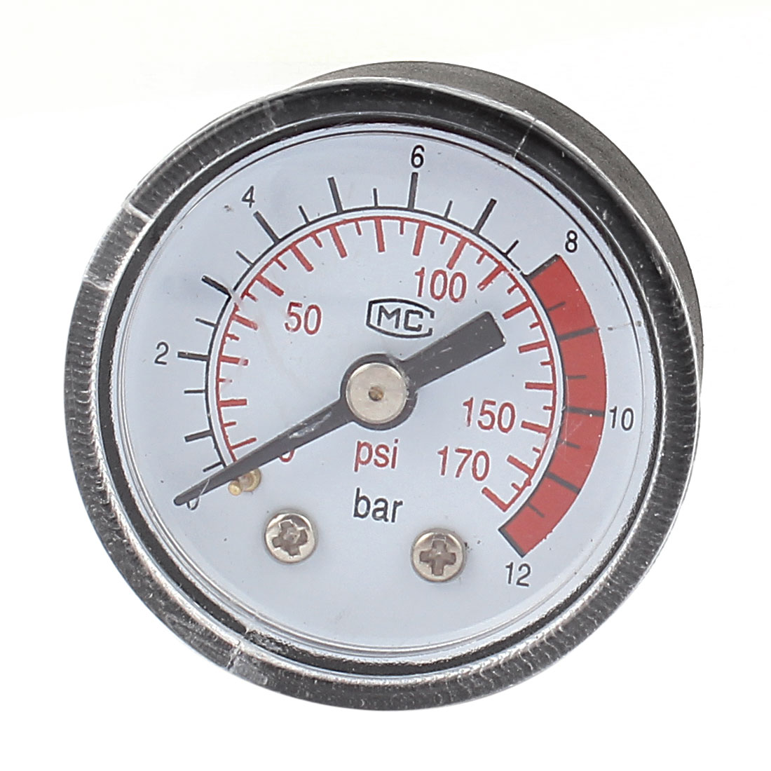 Air Compressor 1/8BSP Male Threaded Adapter 0-12 Bar 0-170PSI Pressure Gauge Manometer