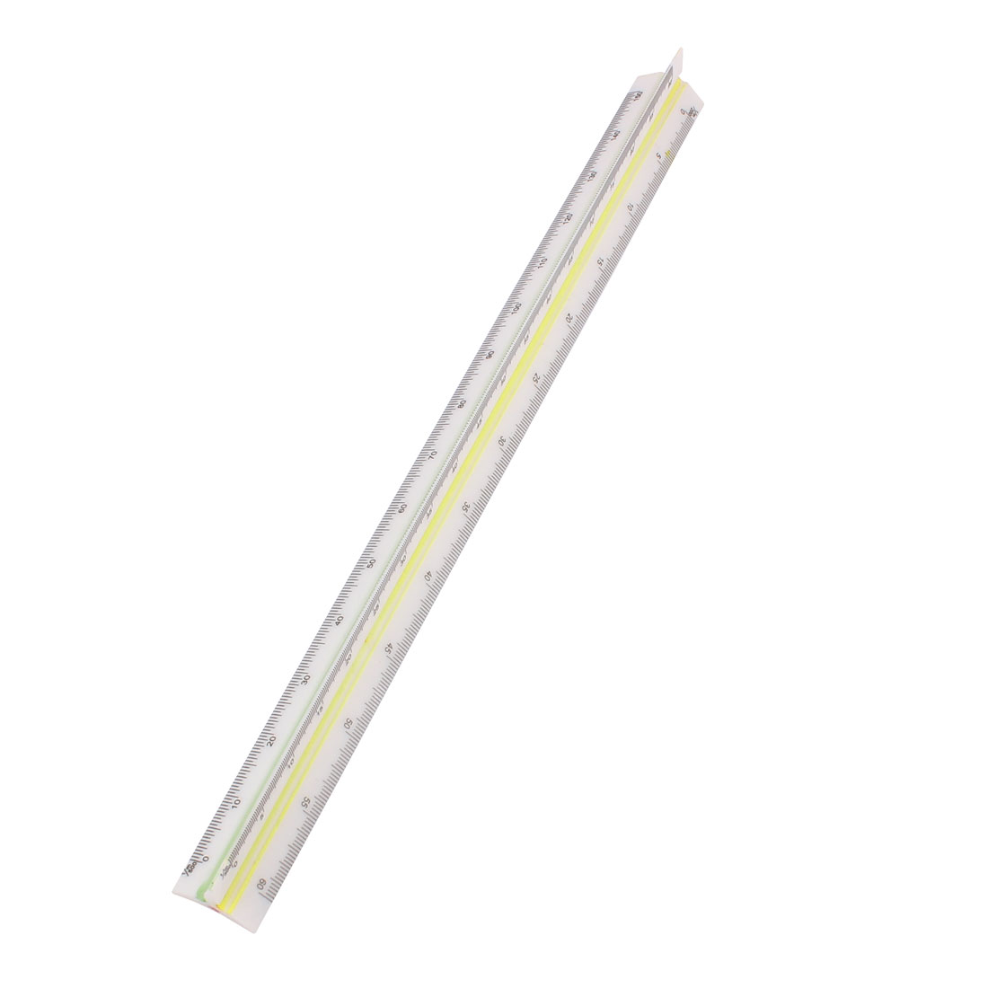 1:100 1:200 1:250 1:300 1:400 1:500 Metric Triangular Scale Measuring Ruler Yellow Red Green