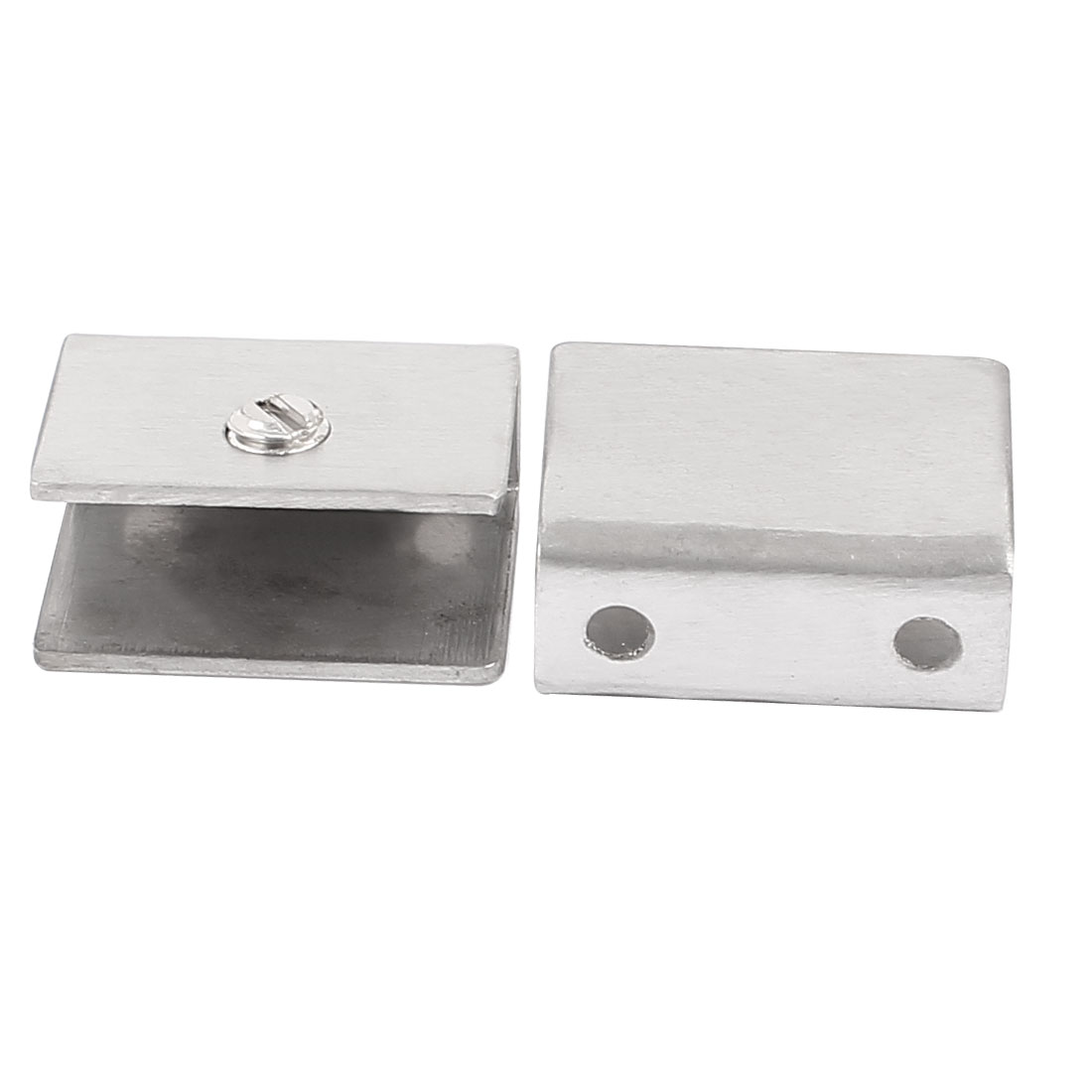 2pcs Adjustable Screw Rectangle Frameless Shower Cabinet Door Hinge Clip Clamp Bracket Holder for 8-12mm Thick Glass