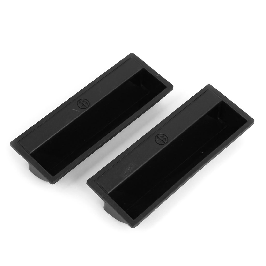 110mmx40x20mm Cabinet Drawer Plastic Pulls Handles Black 2pcs