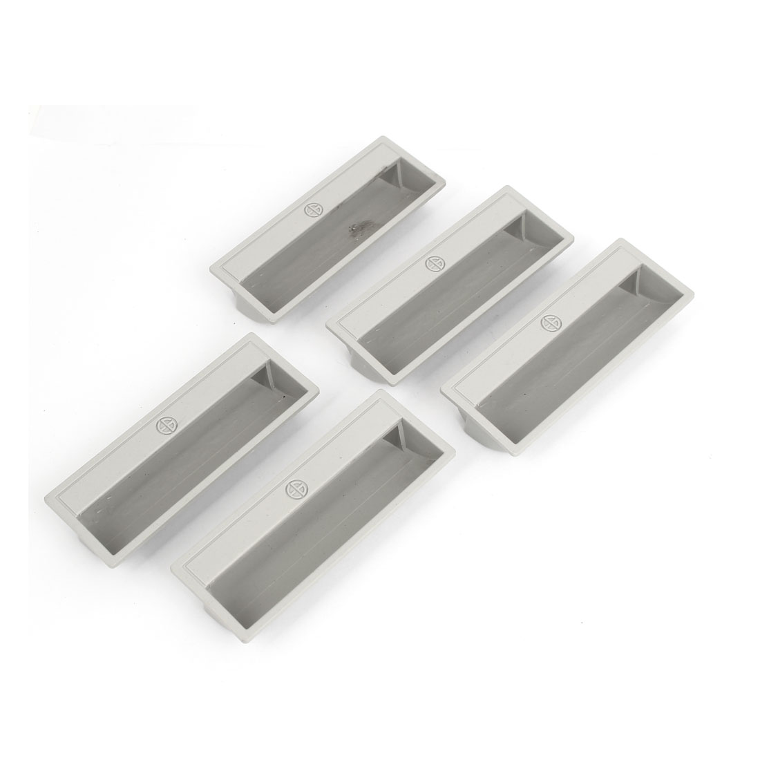 110mmx40x20mm Cabinet Drawer Plastic Pulls Handles Gray 5pcs