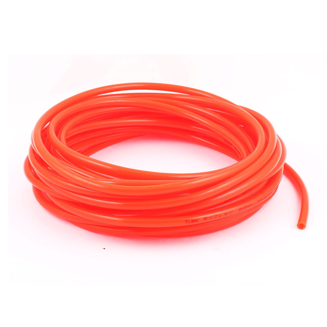 12M 39Ft Long 8mm OD 5mm Inner Dia Red Polyurethane PU Air Pneumatic Hose Pipe Tube