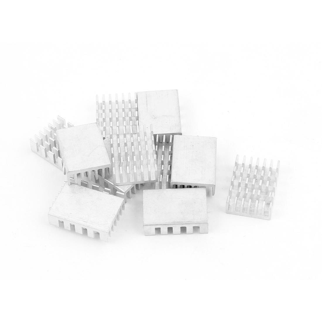 12pcs Aluminum Rectangle CPU Heatsink Radiator Heat Sink Cooling Fin 20mmx14mmx6mm