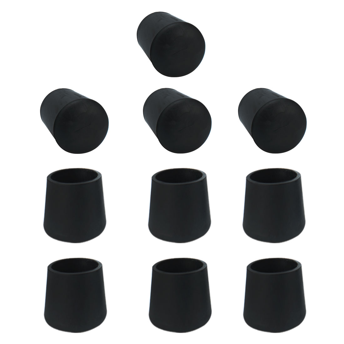 10pcs 15mm Hole Dia Rubber Cone Design Cover Furniture Table Chair Leg Protector Feet Pads Tip