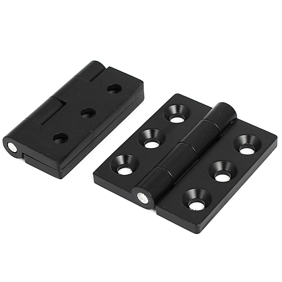 Zinc Alloy 180 Degree Rotatable Cabinet Cupboard Closet Door Hinge 2pcs