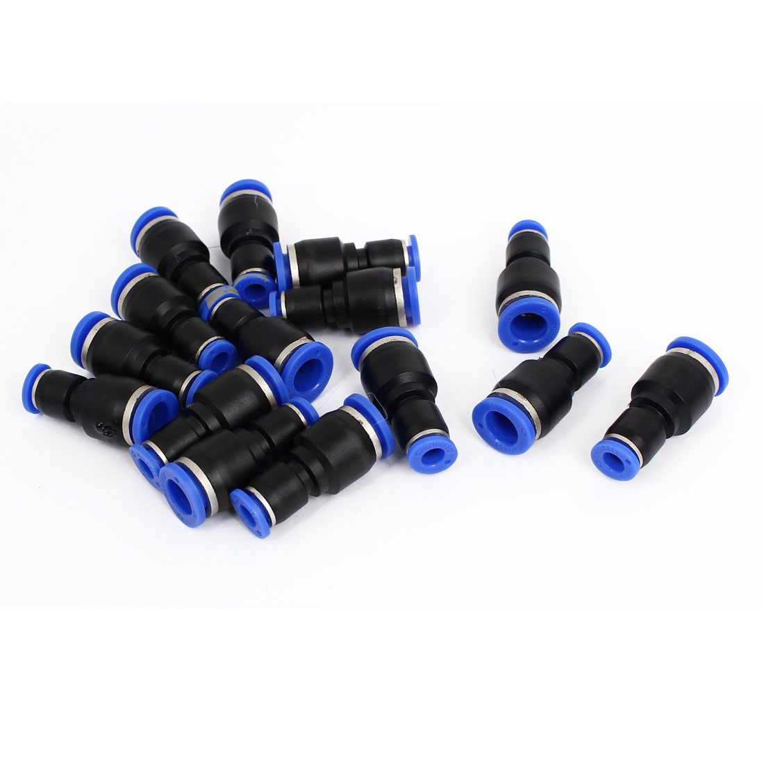 6mm to 10mm Tube Dia 2 Ways Air Pneumatic Quick Joint Fittings 15pcs