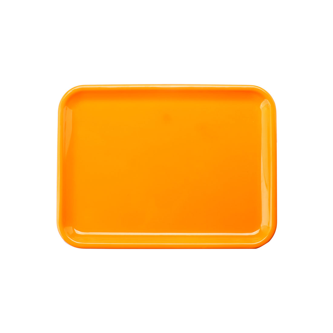 "Hotel Restaurant Plastic Food Drinks Serving Tray Yellow 10"" Length"