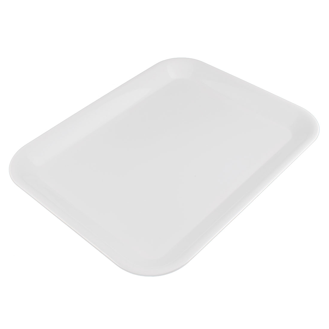 Hotel Restaurant Rectangle Shaped Food Cake Serving Tray White