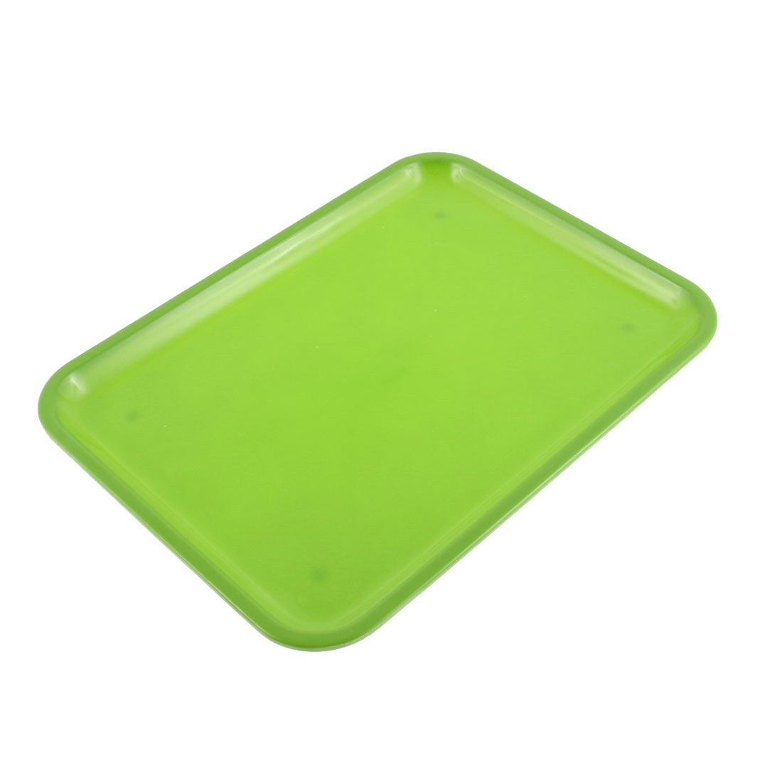 "Restaurant Plastic Rectangle Shape Food Drinks Serving Tray Green 10"" Length"