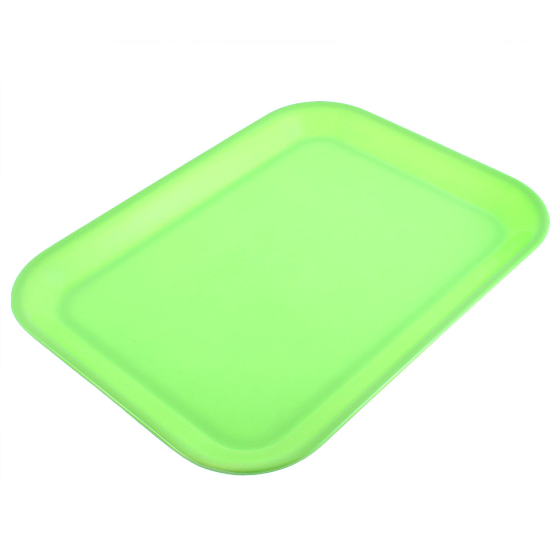 "Restaurant Plastic Rectangle Shaped Food Dinner Serving Tray Green 13"" Length"