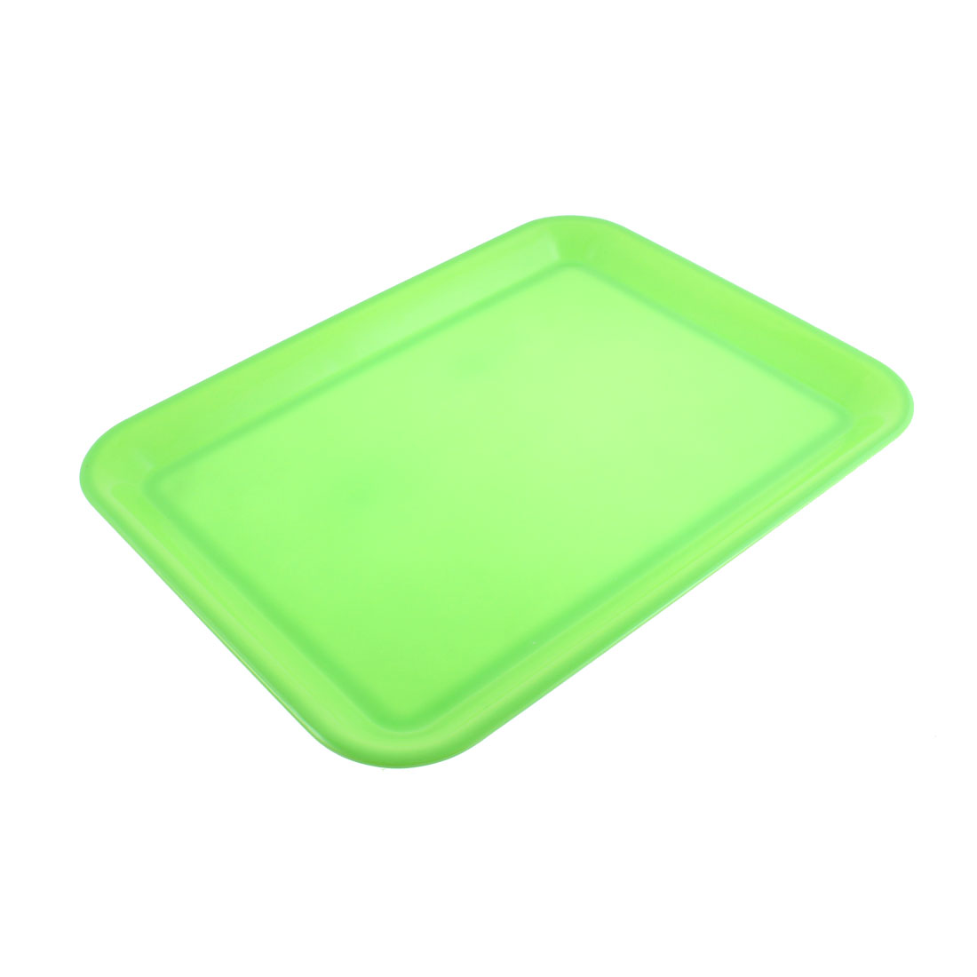 "Restaurant Kitchen Rectangle Shape Food Coffee Serving Tray Green 17"" Length"