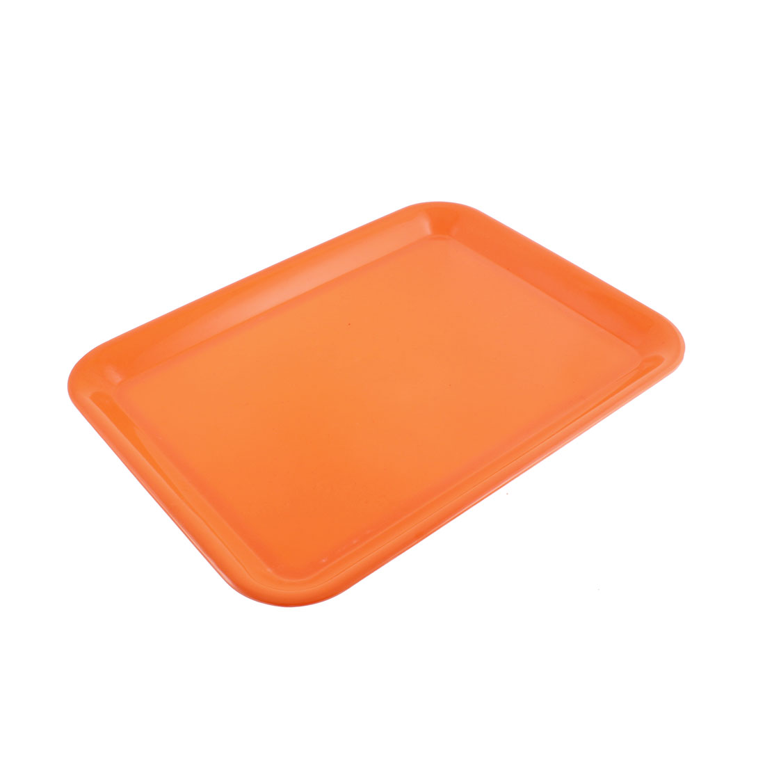 "Restaurant Kitchen Rectangle Shape Food Serving Tray Orange 17"" Length"