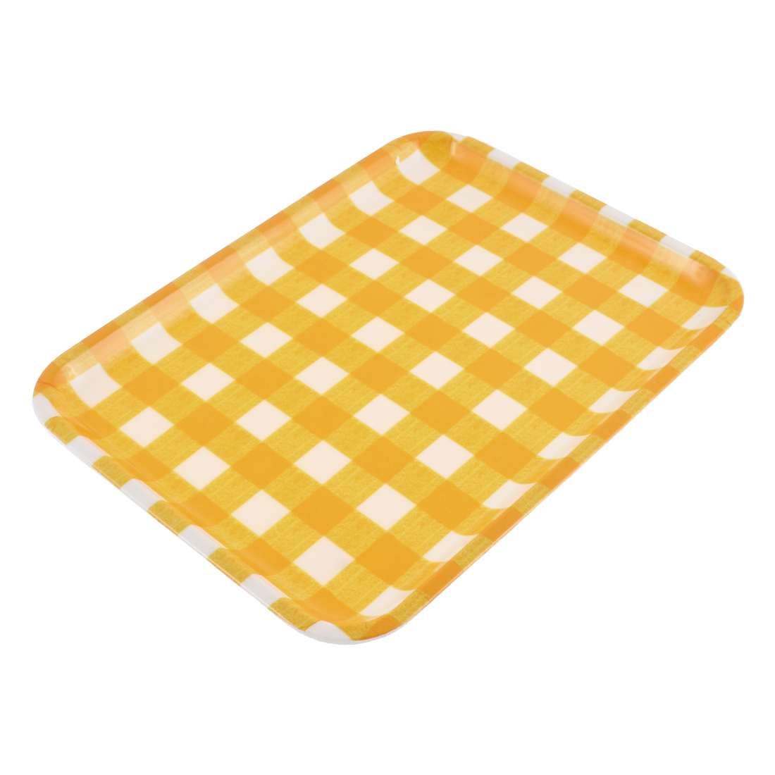 Hotel Restaurant Grid Pattern Food Drinks Serving Tray
