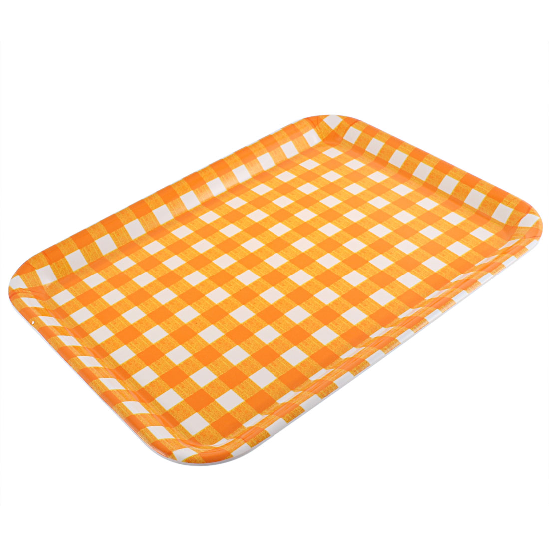 "Hotel Restaurant Plastic Rectangle Shaped Food Serving Tray 17"" Length"