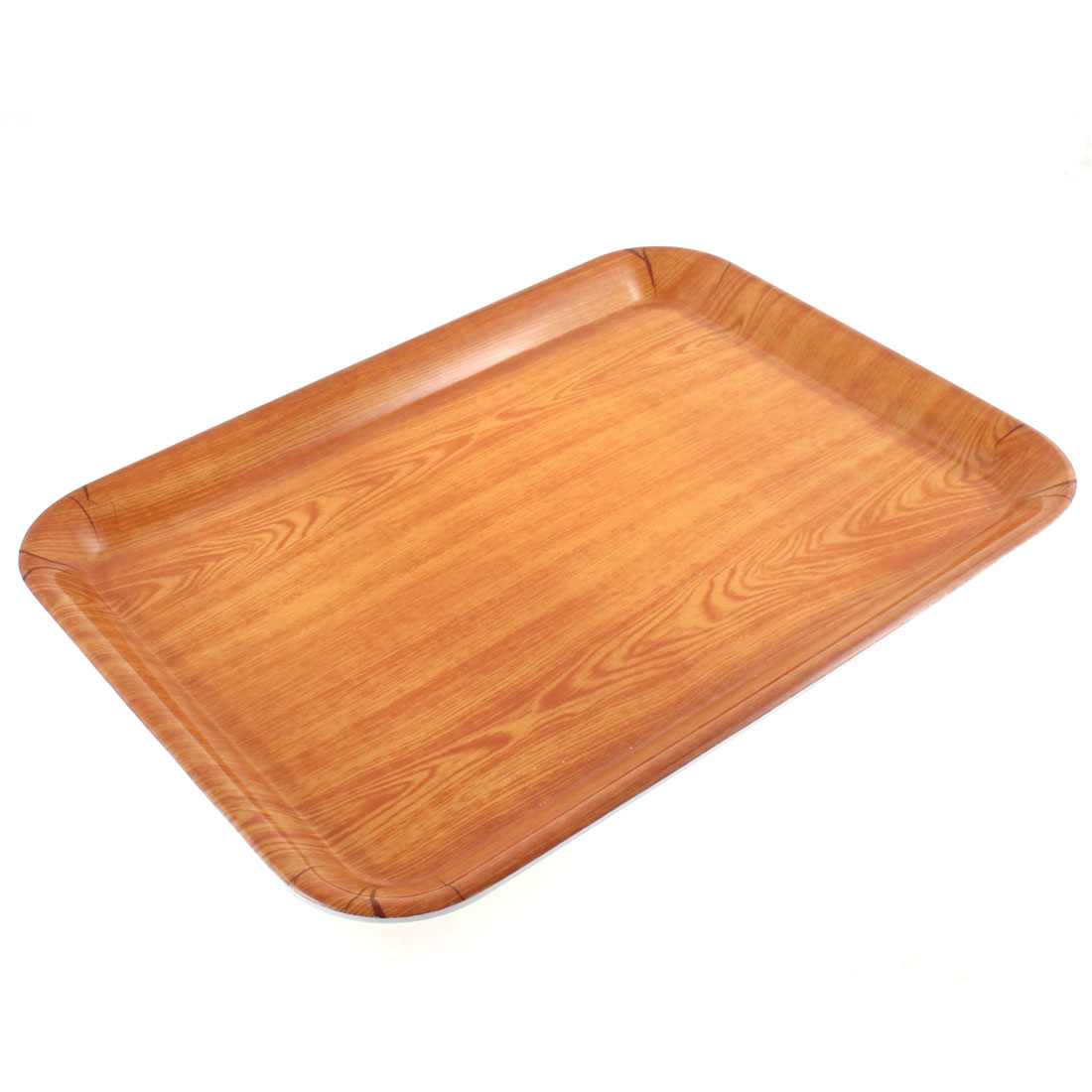 "Restaurant Plastic Rectangle Shaped Fast Food Dinner Serving Tray 17"" Length"