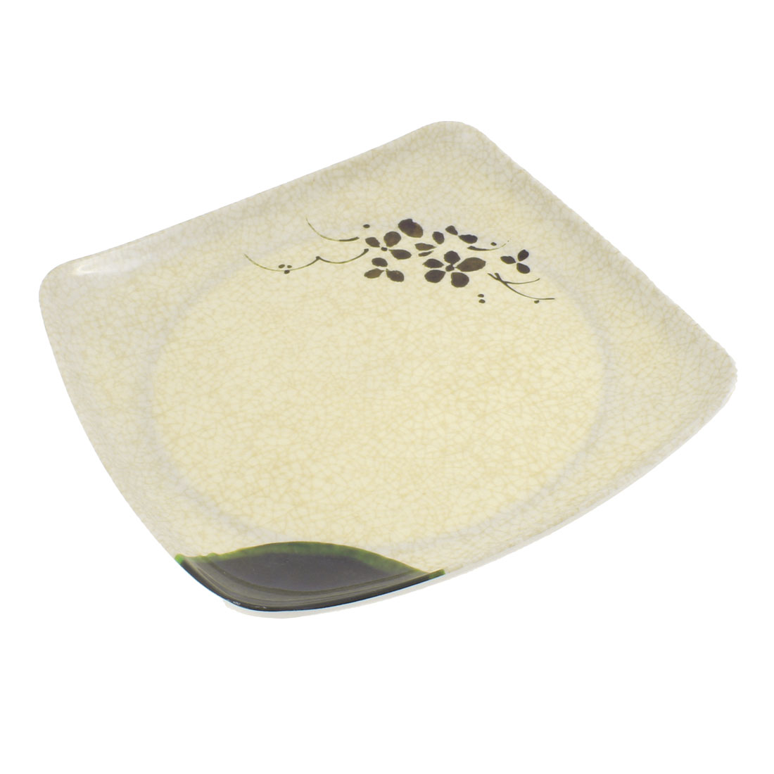 Restaurant Banquet Lotus Pattern Square Shape Dinner Salad Plate