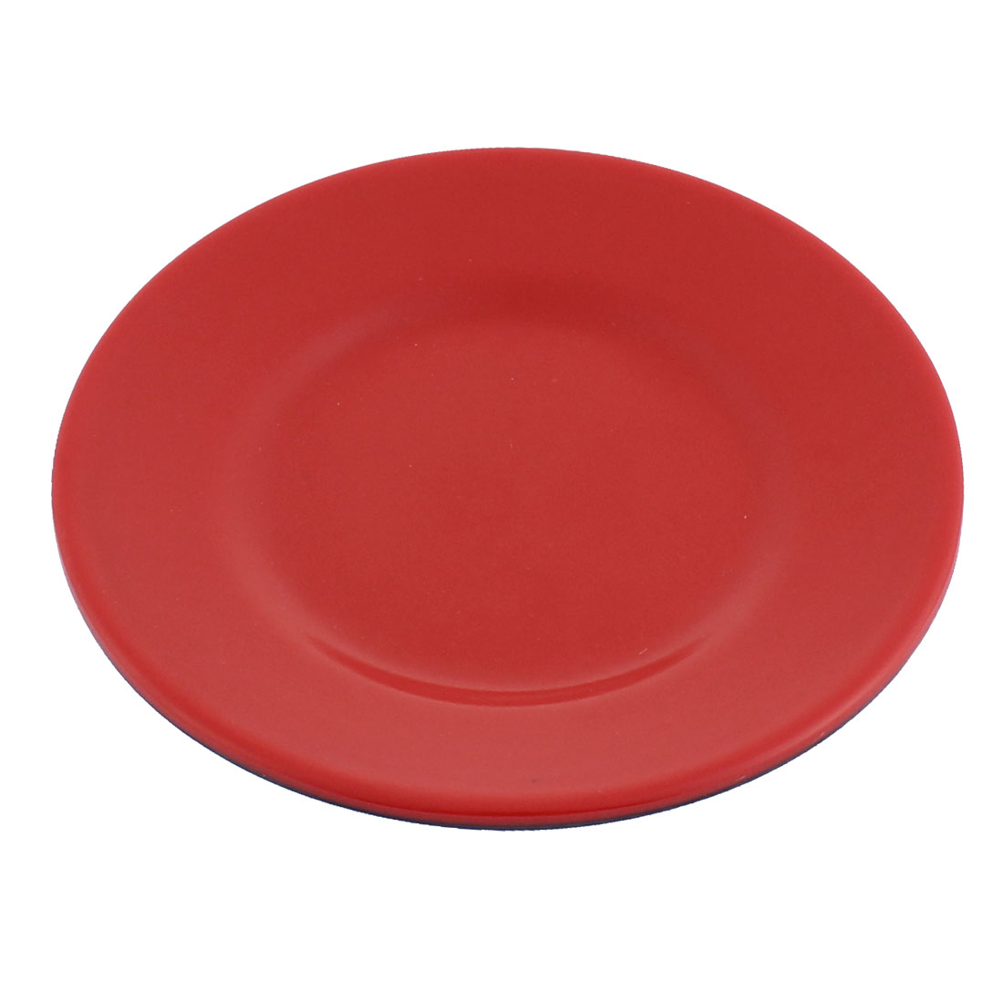 "Restaurant Hot Pot Plastic Food Snacks Mini Dish Plate Tableware Red Black 5"" Dia"