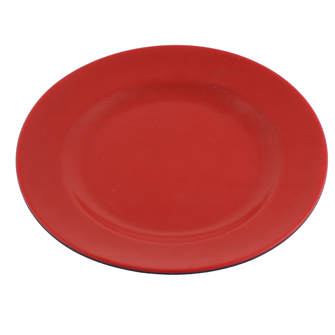"Restaurant Hot Pot Plastic Food Snacks Dish Plate Tableware Red Black 7"" Dia"