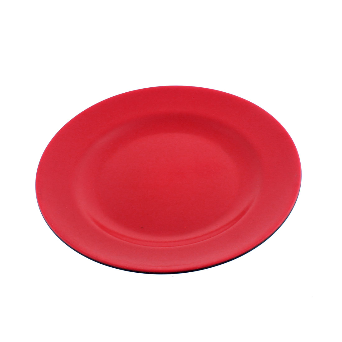 "Restaurant Hot Pot Round Design Food Snack Dish Plate Tableware Red Black 9"" Dia"