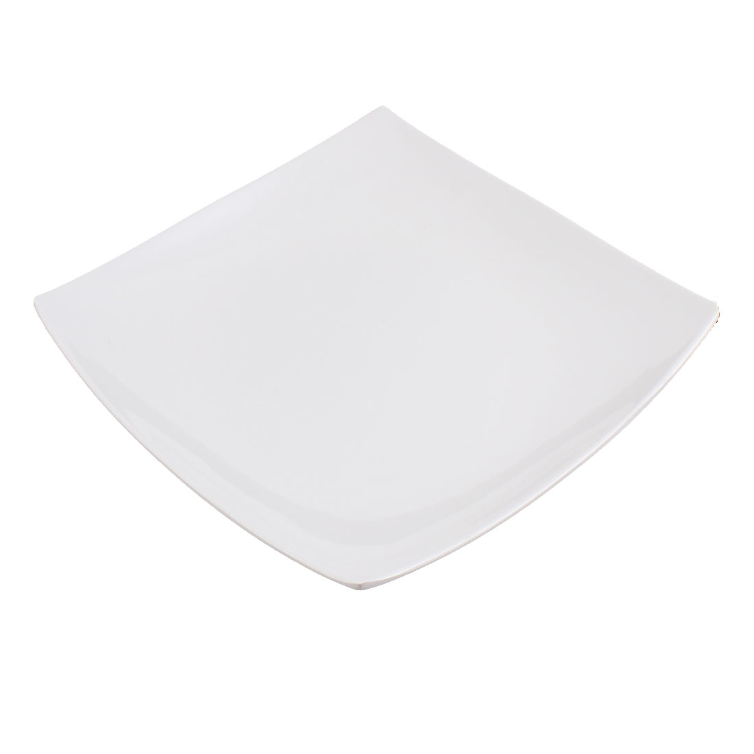"Dinnerware Plastic Square Shaped Steak Food Dish Plate 8.5"" x 8.5"""