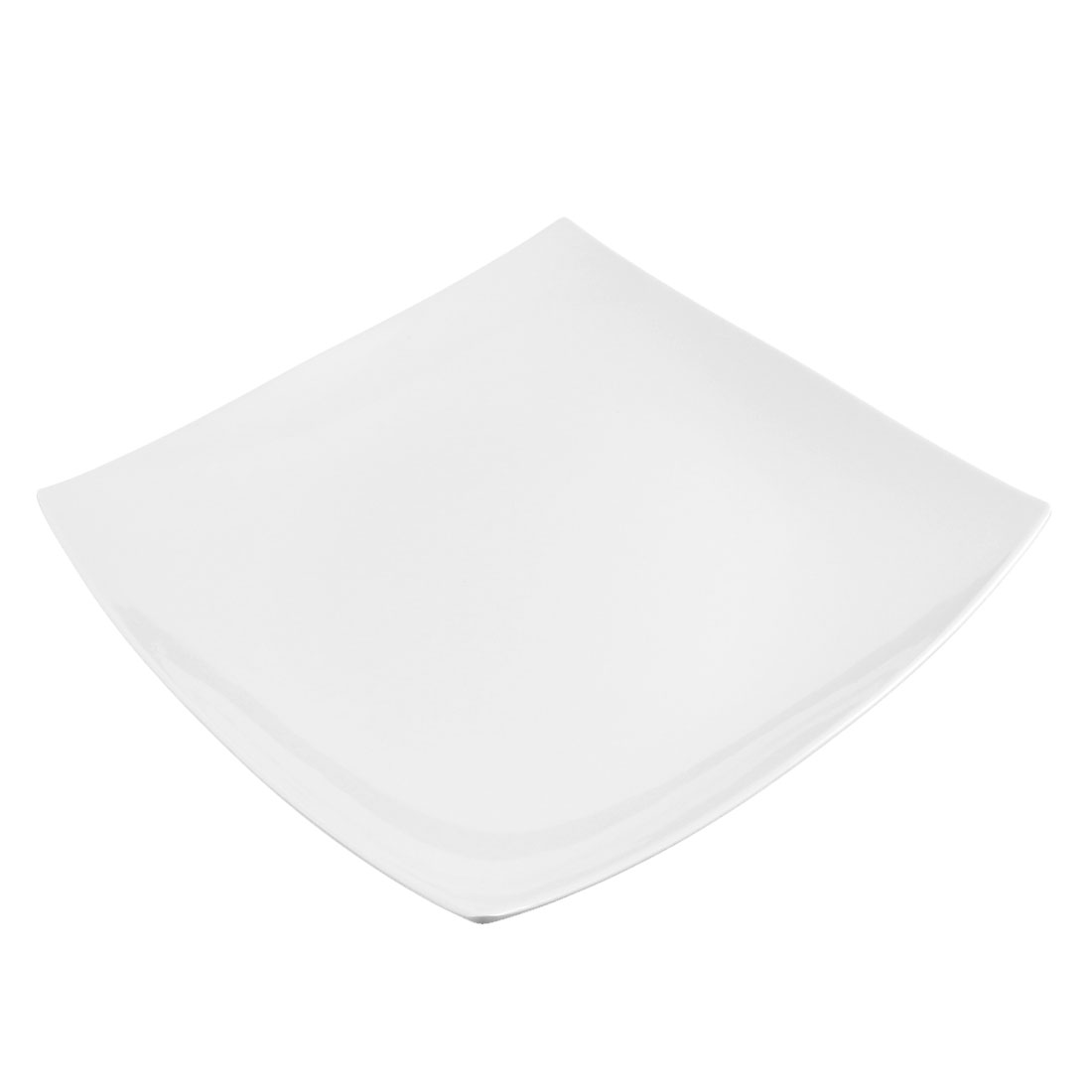Kitchen Tableware Plastic Square Shaped Steak Food Dish Plate 10.5""